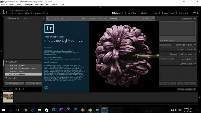 Adobe Photoshop Lightroom Captura