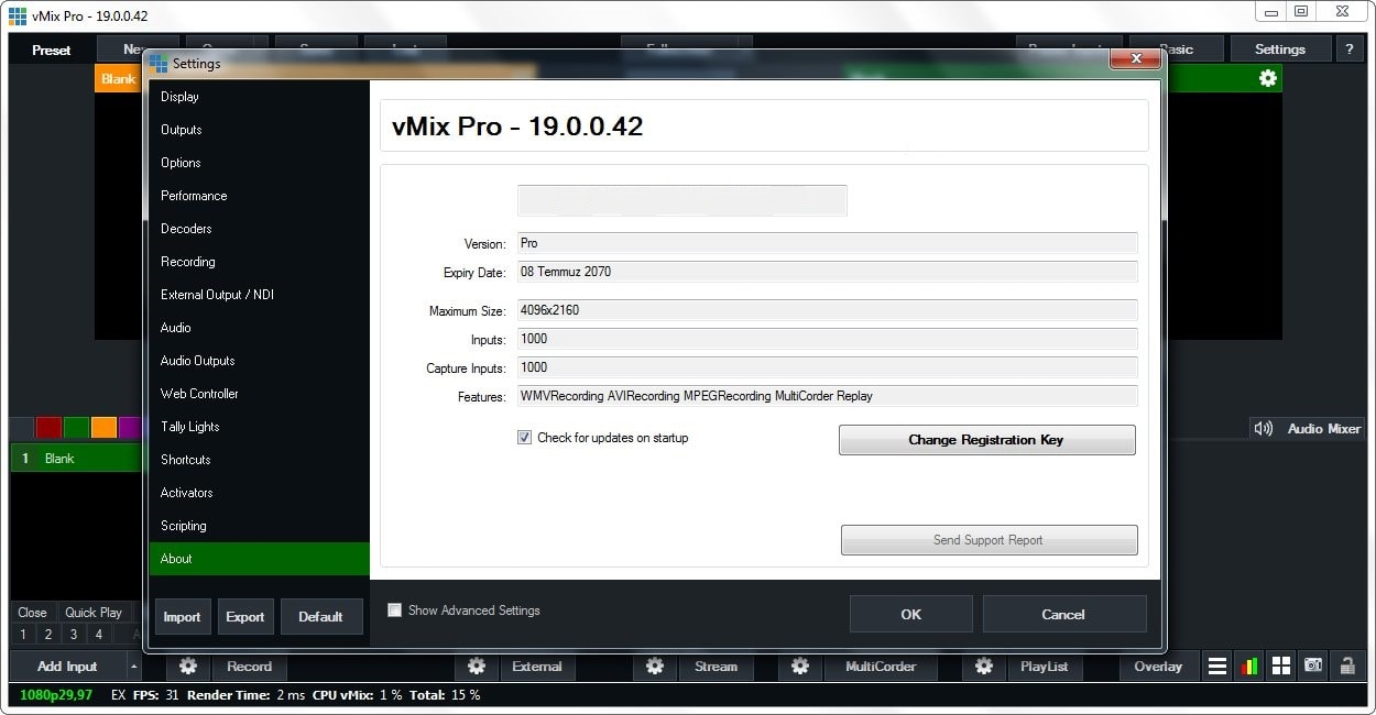 vMix Pro 19.0.0.42 Final captura 2