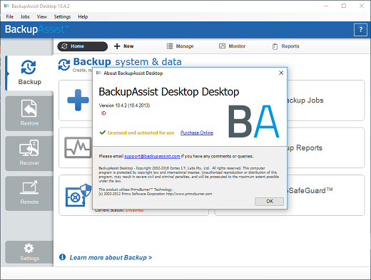 BackupAssist Desktop 10.4.3