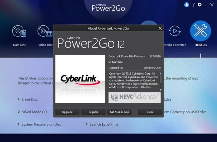 CyberLink Power2Go Platinum v12.0.1024.0