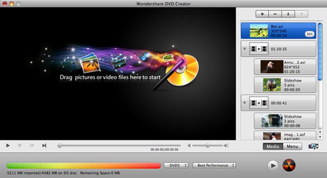 Programa Wondershare DVD Creator 6.1.0.68 Ultima Version