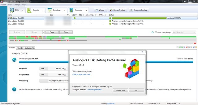 Soft para Auslogics Disk Defrag Pro Versión 4.9.2 Version Final