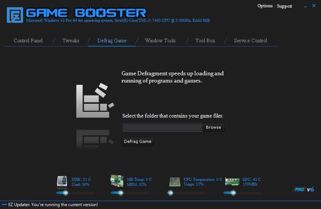 Soft para EZ Game Booster PRO Versión 1.6.3 Ultima Actualizacion