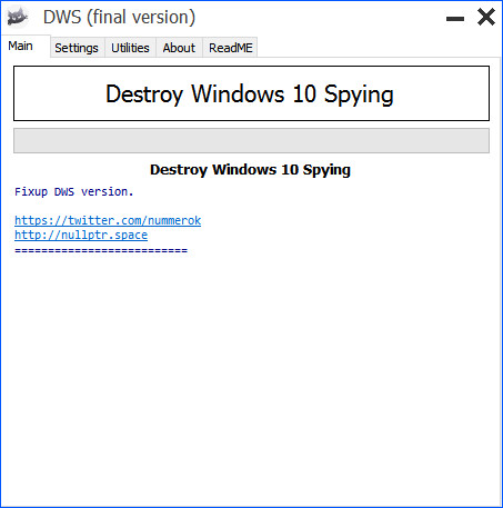 Software Destroy Windows 10 Spying Versión 2.2.2.2 Version Final