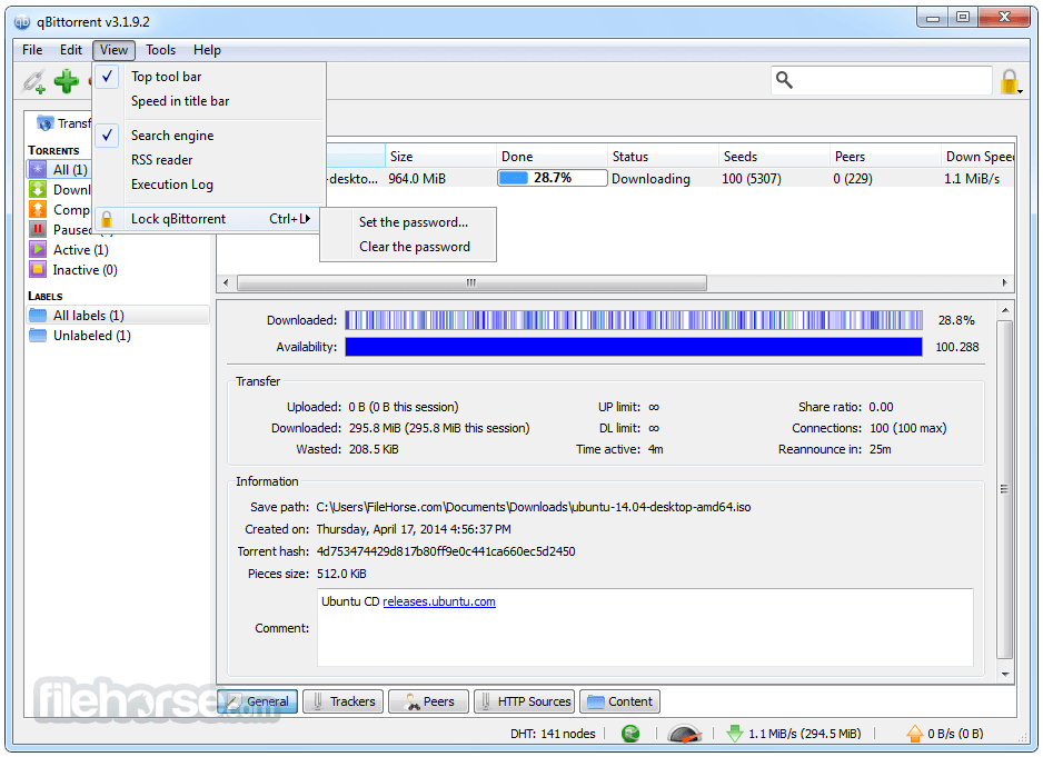 Software qBittorrent v4.1.4 Final